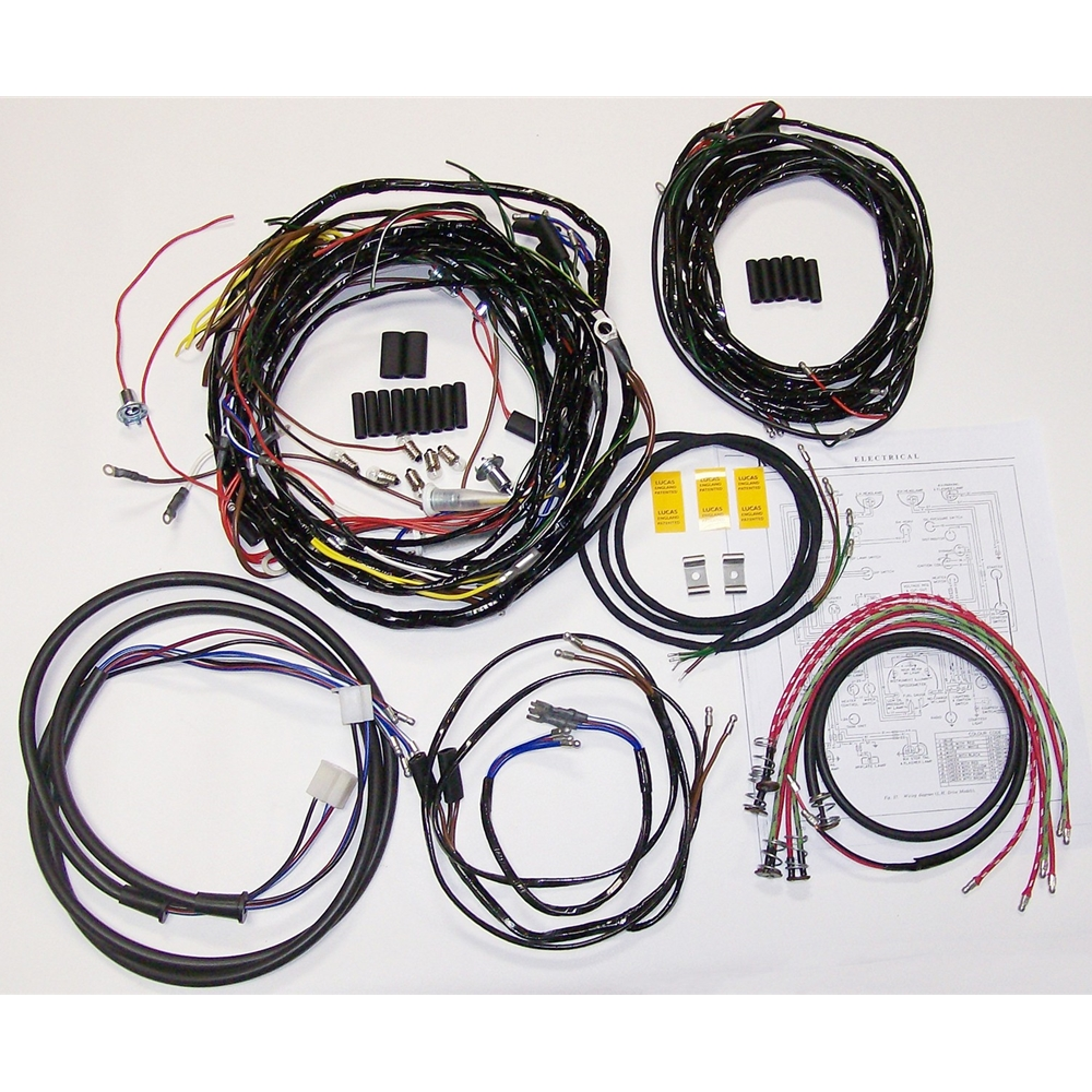 Nash Metropolitan Wiring Harness Kit P Type Mrs Wire Ends