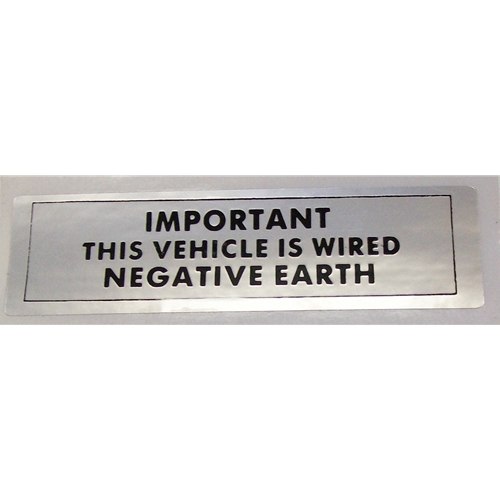 Negative Ground Sticker