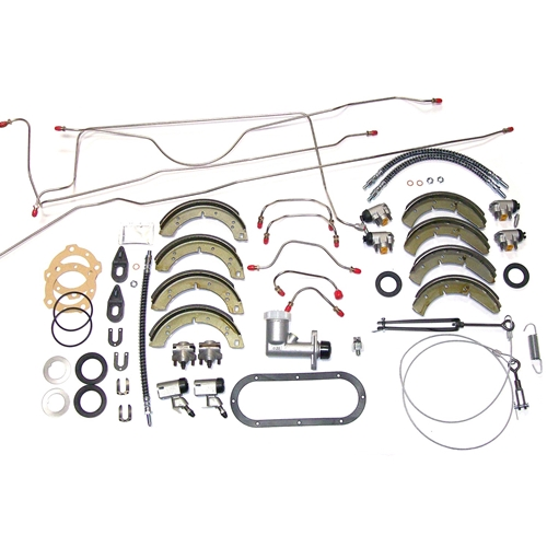 Early Stainless Steel Lines Overhaul Brake System Kit