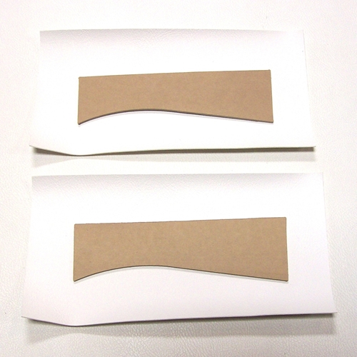 Late Rear Seat Back Lower Trim Panel Set