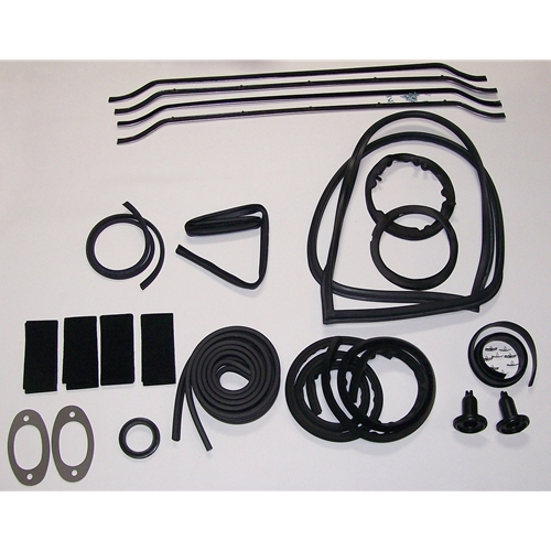 Early (No Vent Windows) Convertible Gasket Kit