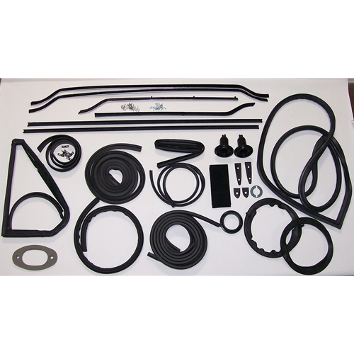 Late (With Vent Windows & Trunk Lid) Convertible With Early Front Windshield Gasket Kit