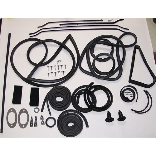 Late (With Vent Windows & Trunk Lid) Hardtop With Late Front Windshield Gasket Kit