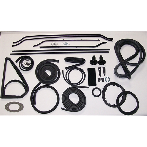 Late (With Vent Windows & Trunk Lid) Convertible With Late Front Windshield Gasket Kit