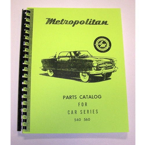 Original Factory Parts Manual
